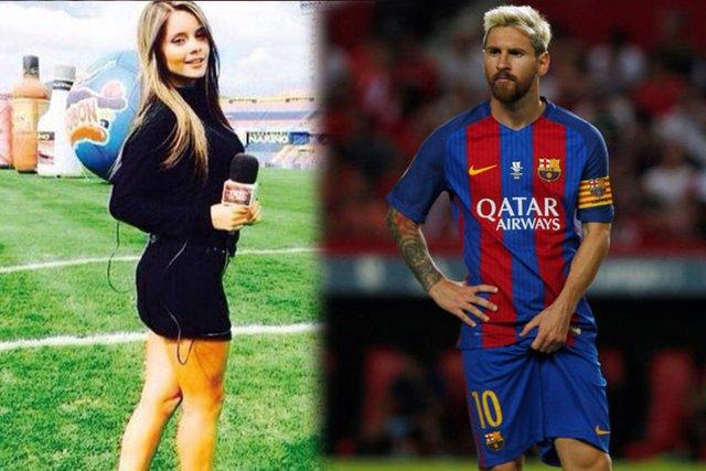 Güzel sunucudan Messi gafı