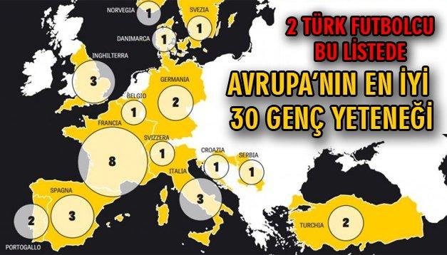 Avrupa'nın en iyi 30 genç yeteneği