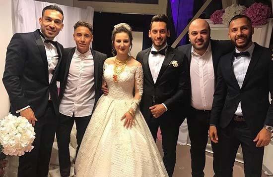 Hakan Çalhanoğlu ile Sinem Gündoğdu'nun düğünü