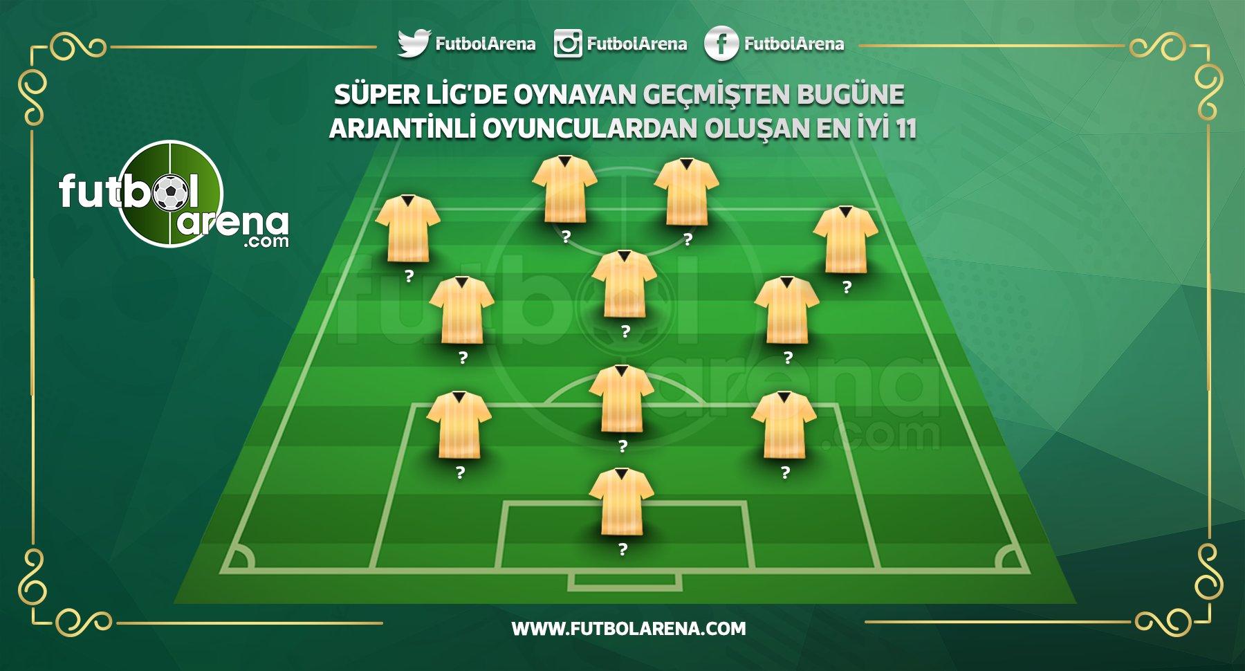 Süper Lig'de oynayan geçmişten bugüne Arjantinli oyunculardan oluşan en iyi 11
