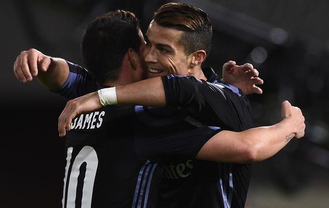 'Cristiano Ronaldo'dan James Rodrigues'e büyük yardım