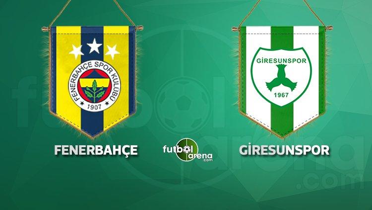 Fenerbahçe'nin Giresunspor 11'i açıklandı! Rövanşta sürpriz