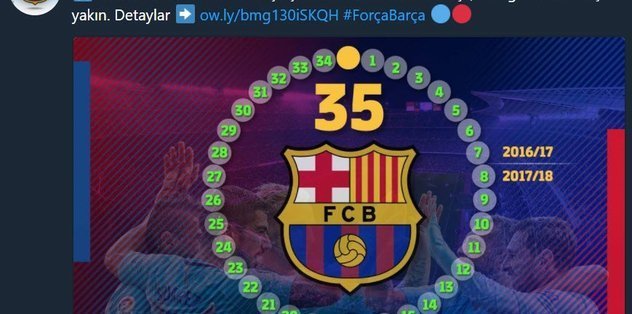 <h2>Barcelona'dan BJK paylaşımı</h2>