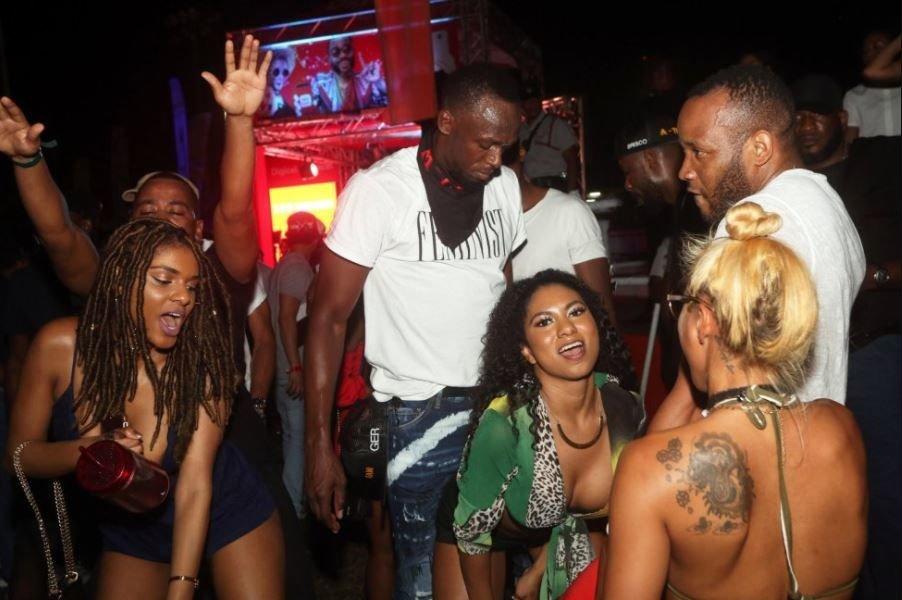 'Usain Bolt yine alemlerde! Olay kareler