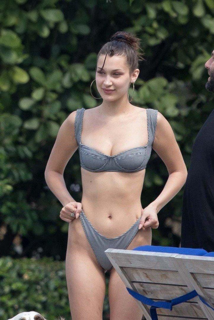 'Bella Hadid bikini izi çıkmasın niye bakın neler yaptı