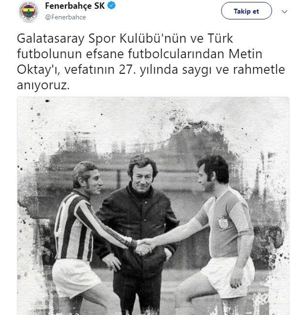 <h2>Fenerbahçe'den Metin Oktay paylaşımı!</h2>