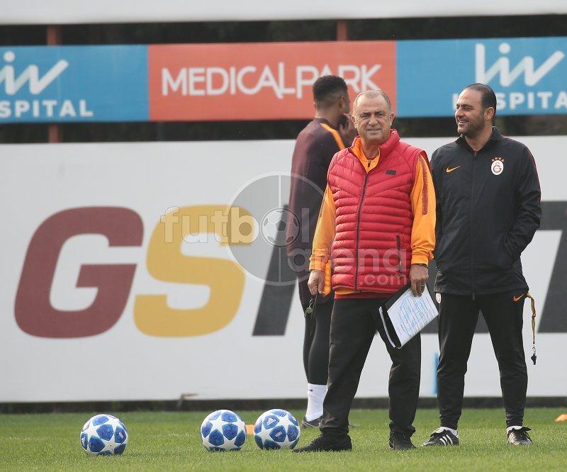 Galatasaray antrenmanında herkesin dikkatini çeken kare