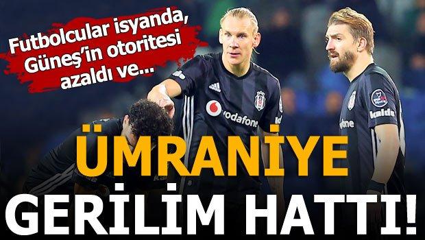 Beşiktaş'ta gerilim hattı! Şenol Güneş ve futbolcular...