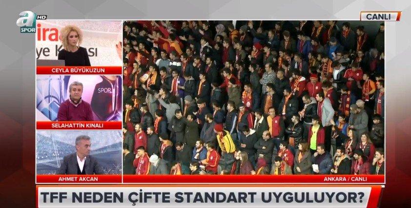 A Spor canlı yayınında TFF'ye Galatasaray tepkisi