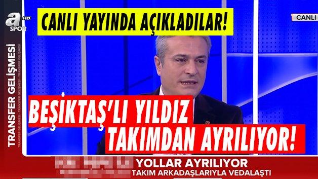 Beşiktaşlı yıldız takımdan ayrıldı! Canlı yayında açıklandı