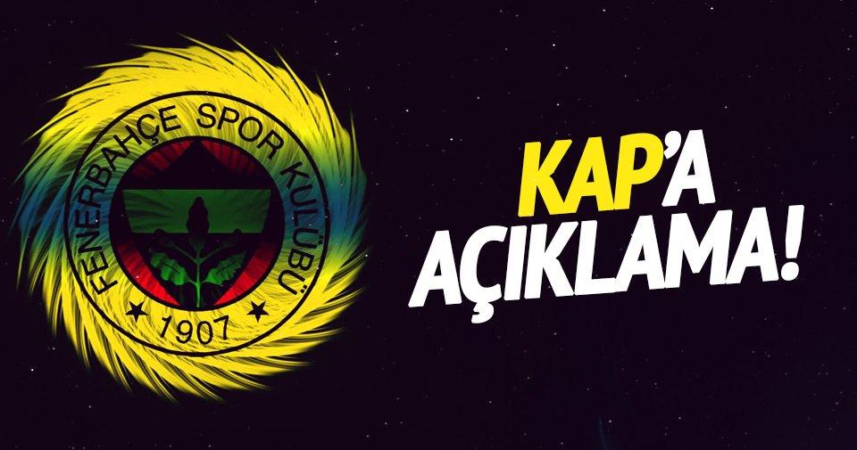 Fenerbahçe, KAP'a resmen açıkladı!