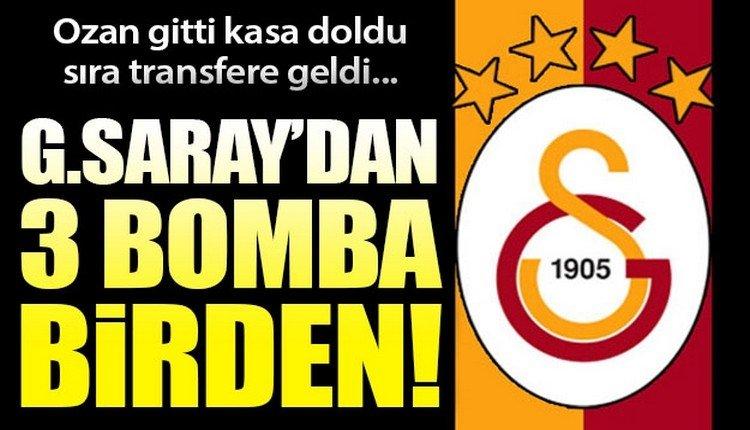 'Galatasaray transferde büyük oynuyor! 3 isim geliyor