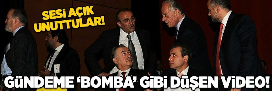 Galatasaray'da gündeme 'bomba' gibi düşen video