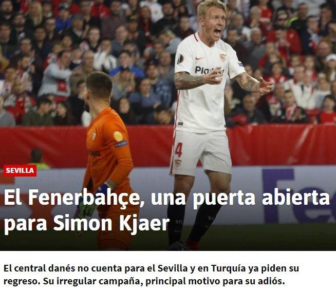 <h2>Simon Kjaer, Fenerbahçe'ye transfer olacak mı?</h2>