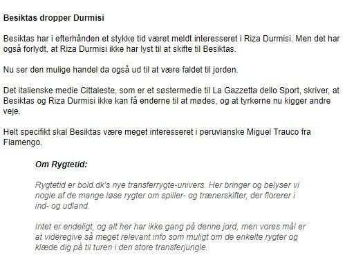 <h2>Beşiktaş, Riza Durmisi'yi transfer etti mi?</h2>