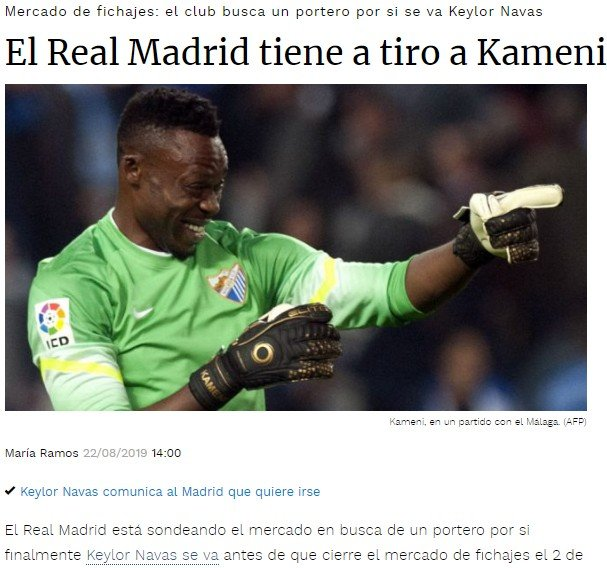 <h2>Kameni, Real Madrid'e mi transfer olacak?</h2>
