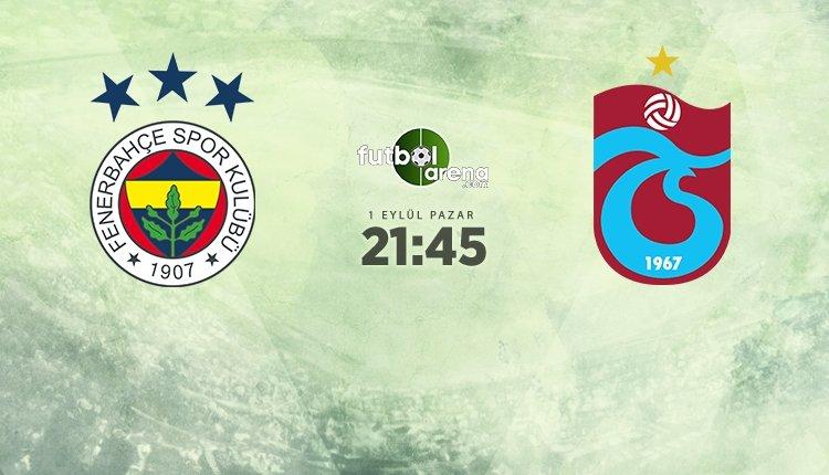 <h2>Fenerbahçe - Trabzonspor muhtemel ilk 11'ler</h2>