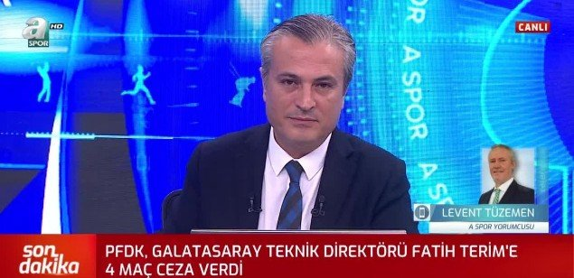 <h2>LEVENT TÜZEMEN'DEN FATİH TERİM TEPKİSİ</h2>