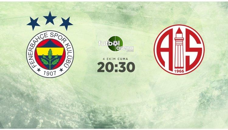 <h2>Fenerbahçe - Antalyaspor maçı muhtemel ilk 11'leri</h2>