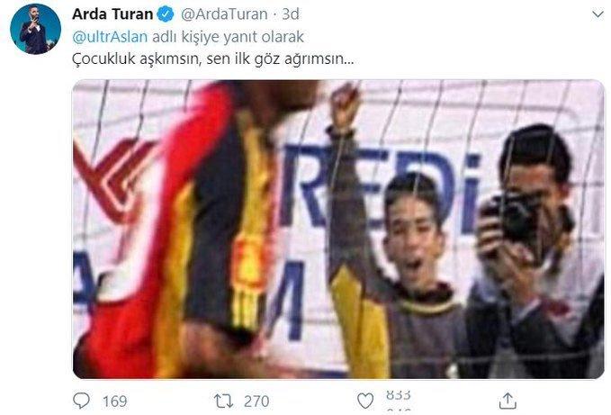 <h2>ARDA TURAN'DAN GALATASARAY PALAŞIMI</h2>