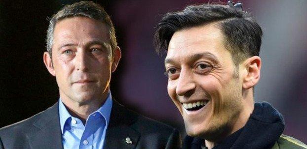 <h2>Fenerbahçe'de Ali Koç, Pellegrini'ye Mesut Özil sözü verdi</h2>