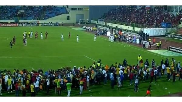 Gana-Ekvator Ginesi maçında tribünler karıştı