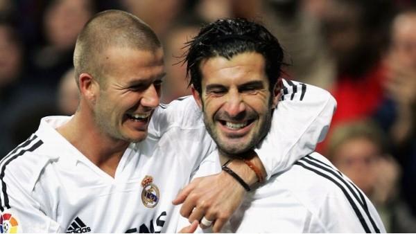 Beckham, Figo'ya destek verdi