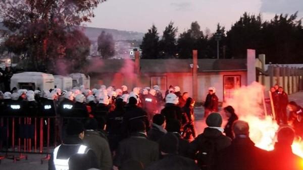 Altay, Göztepe maçı olaylı başladı