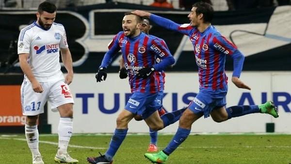 Caen 2-0 geriden gelerek Marsilya'yı 3-2 yendi