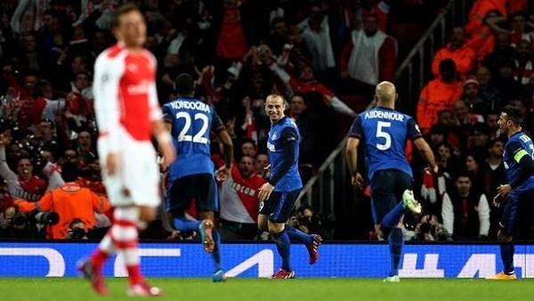 Monaco, Arsenal'i evinde 3-1 yendi