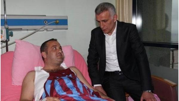 İbrahim Hacıosmanoğlu'ndan şoföre ziyaret