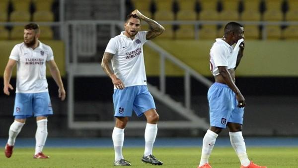 Trabzonspor, Rabotnicki'ye 1-0 mağlup oldu