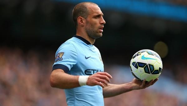 Manchester City'de Pablo Zabaleta şoku