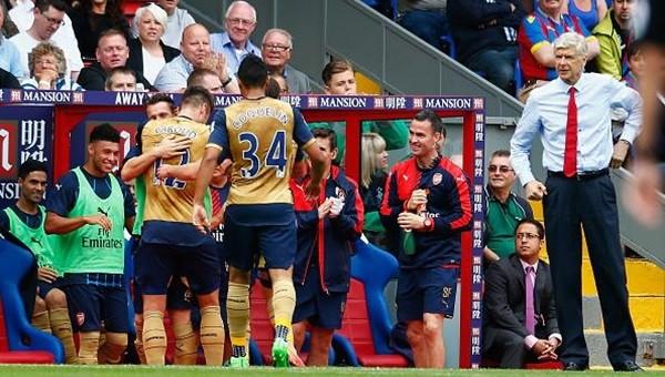 Arsenal, Crystal Palace'ı 2-1 mağlup etti.