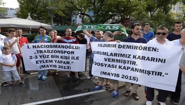 Trabzonspor taraftarlarından şike protestosu