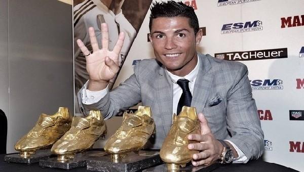 Ronaldo, 4. 'Altın Ayakkabı'sını aldı