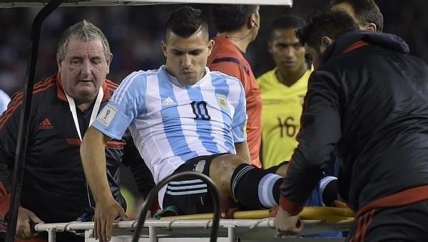 Sergio Agüero yine sakatlandı