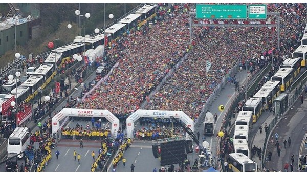 İstanbul koşuyor! Vodafone 37. İstanbul Maratonu başladı