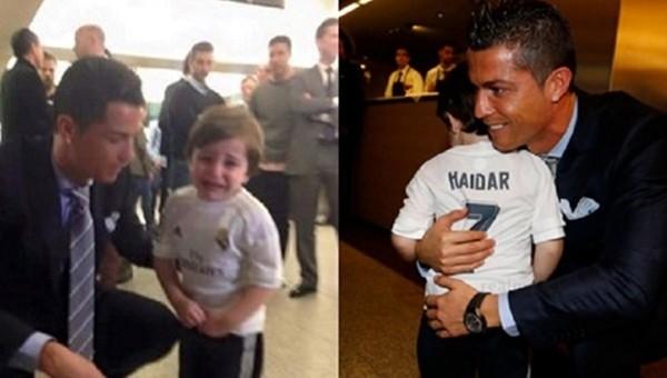 Cristiano Ronaldo'dan alkışlanacak hareket! Gözyaşlarını tutamadı