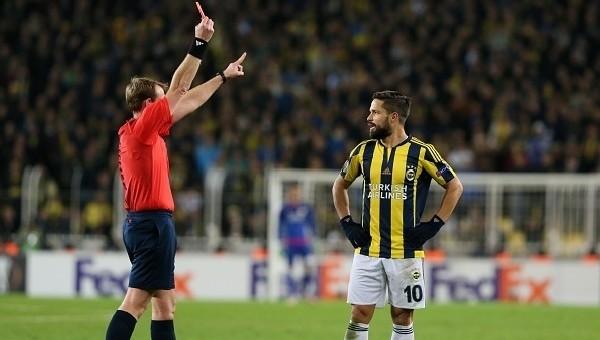 Diego Ribas kaç yıl sonra kırmızı kart gördü?