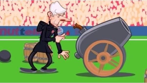 Arsene Wenger'in komik animasyonu