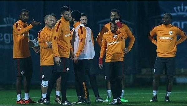 Galatasaray idmanında gerginlik yaşandı
