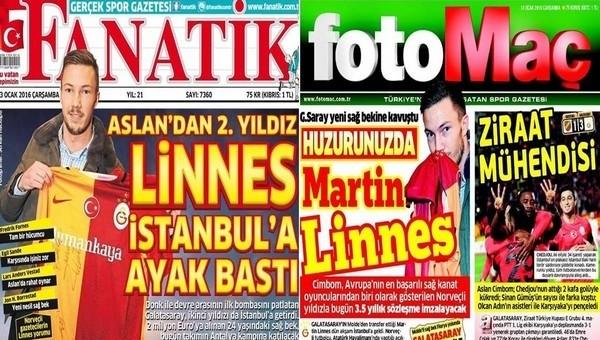Spor gazetelerinde günün manşetleri (13 Ocak 2016)