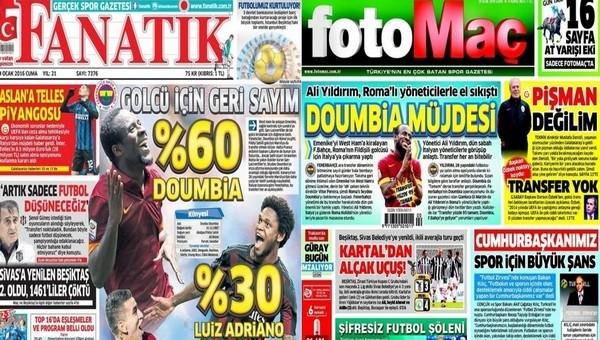 Spor gazetelerinde günün manşetleri (29 Ocak 2016)