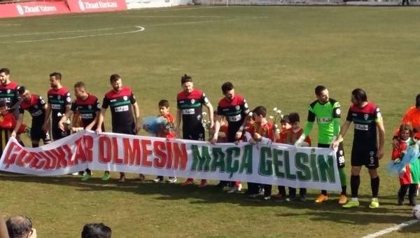 Amedspor'dan 'Çocuklar ölmesin' pankartı - Türkiye Kupası Haberleri