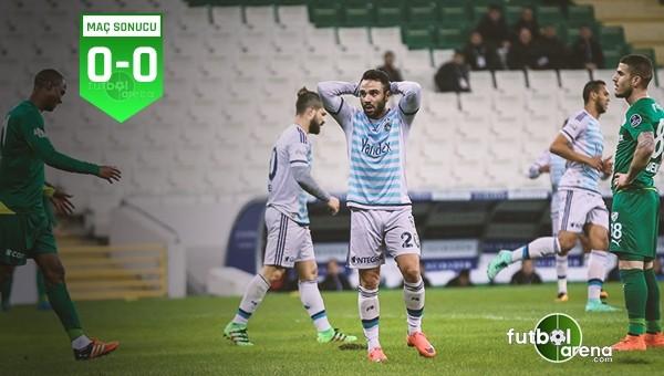 Bursa'da ne seyirci var ne de gol