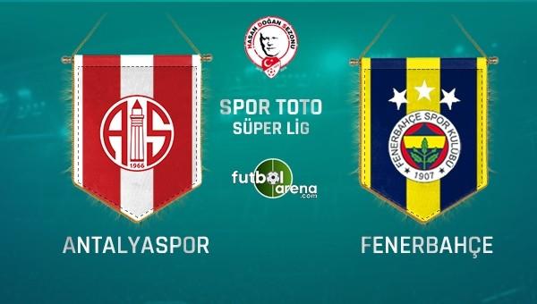 Fenerbahçe, Antalya'da kayıp istemiyor