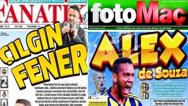 Manşetlerde Fenerbahçe damgası