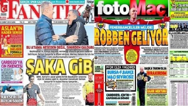 Spor gazeteleri oku - Spor gazete manşetleri (Fanatik, Fotomaç, AMK gazeteleri - 12 Şubat 2016)
