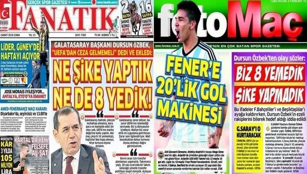 Spor gazetelerinde günün manşetleri (5 Şubat 2016)